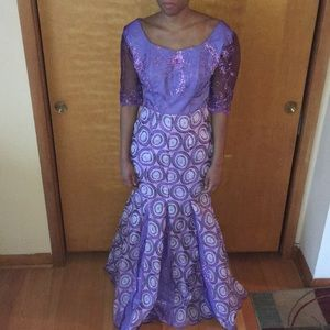 Dresses & Skirts - Traditional Gown- Purple Embroidery
